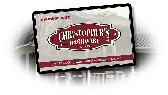 Christopher's Hardware Rewards